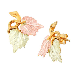Little Leaves Black Hills Gold Earrings I - Jewelry