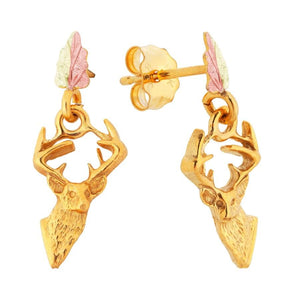 Stately Bucks Black Hills Gold Earrings - Jewelry