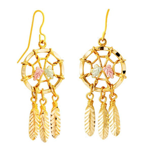 Black Hills Gold Dreamcatcher Earrings - Jewelryx