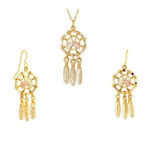 Black Hills Gold Dreamcatchers Earrings & Pendant Set