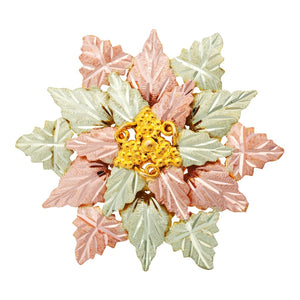 Black Hills Gold Foliage Brooch II