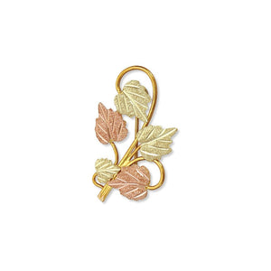 Black Hills Gold Five Leaf Brooch