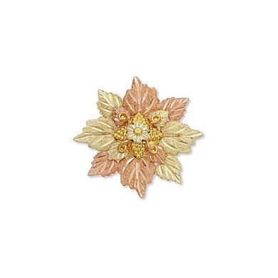 Black Hills Gold Foliage Brooch I