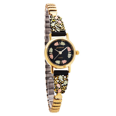 Black Hills Gold Intricate Foliage Ladies Watch II