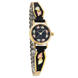 Black Hills Gold Intricate Foliage Ladies Watch III