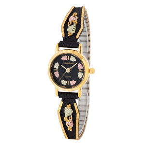 Black Hills Gold Intricate Foliage Ladies Watch