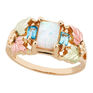 Black Hills Gold Square Opal Ring - Jewelry