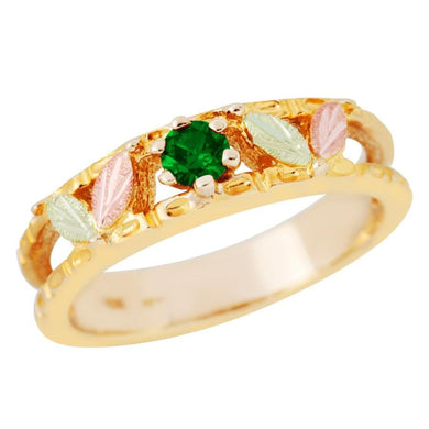 Black Hills Gold Sparkling Emerald Ring - Jewelry