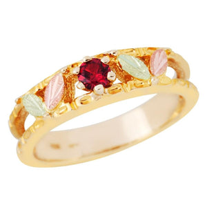 Black Hills Gold Sparkling Ruby Ring - Fortune And Glory - Made in USA Gifts
