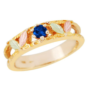Black Hills Gold Sparkling Sapphire Ring - Jewelry