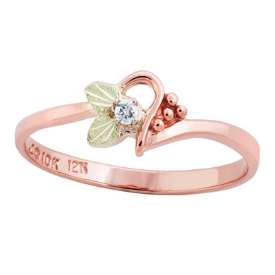 Black Hills Pink Gold Little Diamond Ring