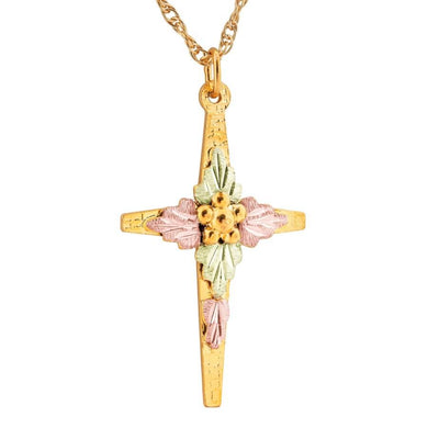 Black Hills Gold Simple Cross Pendant & Necklace VI - Jewelry