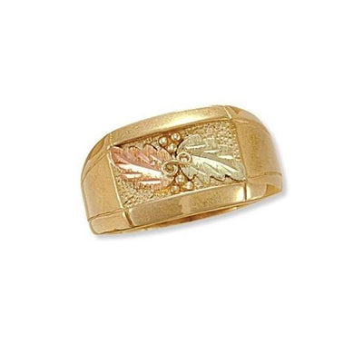 Mens Classic Black Hills Gold Ring IV - Jewelry