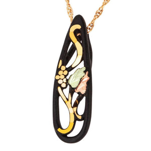 Black Hills Gold Powder Coat Pendant & Necklace - Jewelry