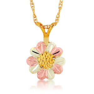 Black Hills Gold Sunflower Pendant & Necklace - Jewelry