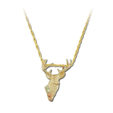 Black Hills Gold Buck Pendant & Necklace - Jewelry
