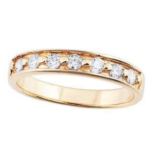 Black Hills Gold 7 Straight Diamond Ring - Jewelry