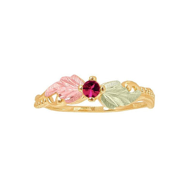 Black Hills Gold Ruby Ring - Jewelry