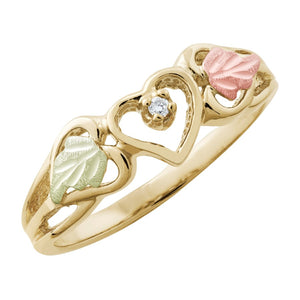 Black Hills Gold Diamond Heart Ring III