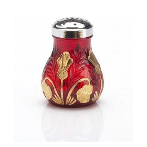 Inverted Thistle Glass Sugar Shaker - 4 Color Options - Red Decorated - Baby Gifts