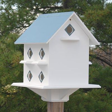 Purple Martin Mansion Verdigris Roof - Birdhouses