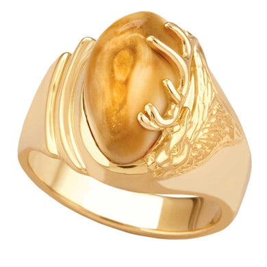 Kootenai Elk Ivory Gold Ladies Ring