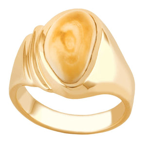 Yellowstone Elk Ivory Gold Ladies Ring