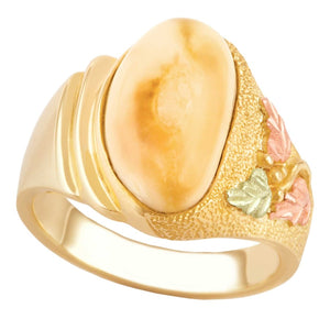 Mystic Elk Ivory Gold Ladies Ring
