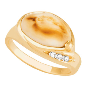 Sierra Elk Ivory Gold Ladies Ring