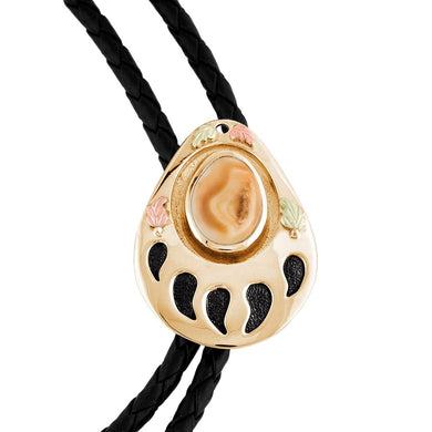 Grizzly Elk Ivory Black Hills Gold Bolo