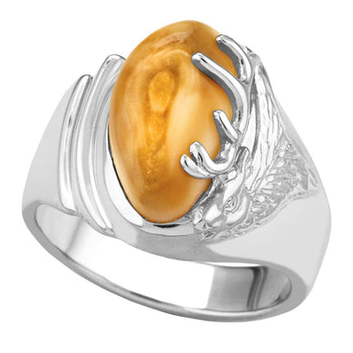Kootenai Elk Ivory Sterling Silver Ladies Ring
