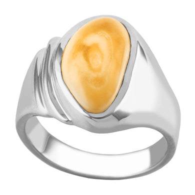 Yellowstone Elk Ivory Sterling Silver Ladies Ring