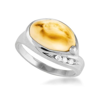 Sierra Elk Ivory Sterling Silver Ladies Ring