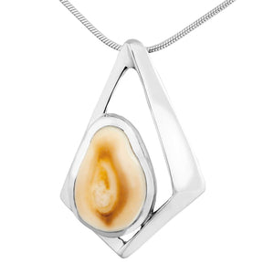 Elk Point Ivory Sterling Silver Pendant