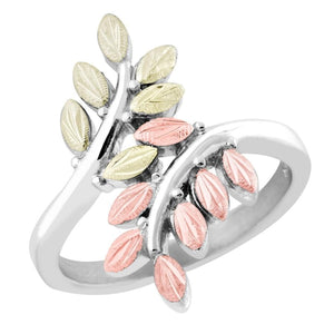 Sterling Silver Black Hills Gold Fancy Foliage Ring II - Jewelry