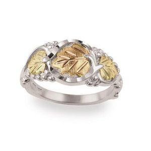 Sterling Silver Black Hills Gold Foliage Ring II - Jewelry