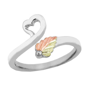 Sterling Silver Black Hills Gold Heart Toe Ring - Jewelry