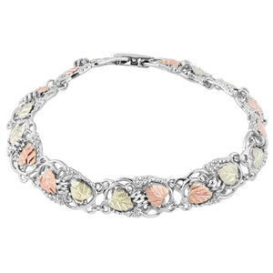 Sterling Silver Black Hills Gold Most Beautiful Bracelet - Jewelry