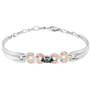 Sterling Silver Black Hills Gold Mystic Fire Topaz Bracelet - Jewelry