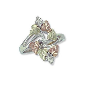 Sterling Silver Black Hills Gold Magnificent Foliage Ring - Jewelry