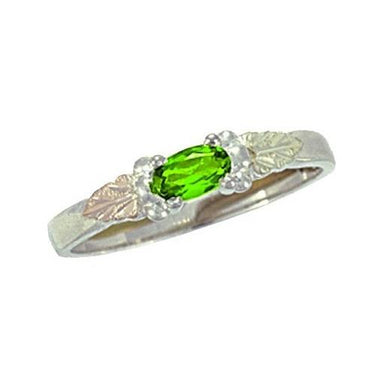 Sterling Silver Black Hills Gold Bright Peridot Ring - Jewelry