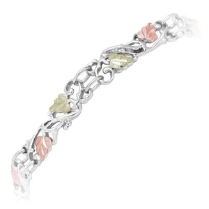 Sterling Silver Black Hills Gold Autumn Color Bracelet - Jewelry