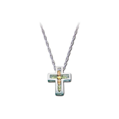 Sterling Silver Black Hills Gold Beautiful Cross Pendant - Jewelry