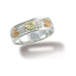 Sterling Silver Black Hills Gold Traditional Ring II - Jewelry