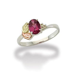 Sterling Silver Black Hills Gold Rhodolite Ring - Jewelry