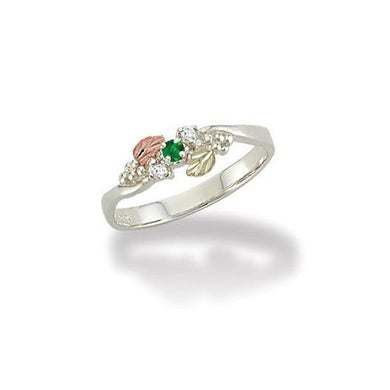 Sterling Silver Black Hills Gold Lil Emerald Ring - Jewelry