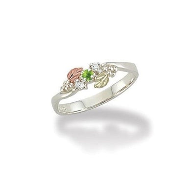 Sterling Silver Black Hills Gold Lil Peridot Ring - Jewelry