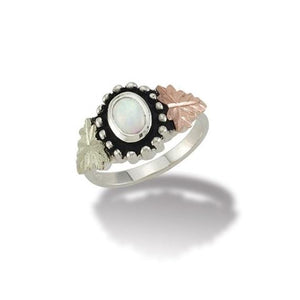 Sterling Silver Black Hills Gold Beautiful Opal Ring - Jewelry