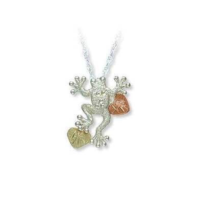 Sterling Silver Black Hills Gold Little Frog Pendant - Jewelry