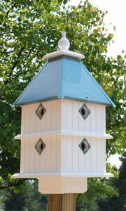Plantation Bird House Verdigris Roof - Birdhouses